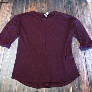 Burgundy Basic Sweater